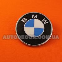 Эмблема BMW 73 мм на капот-багажник