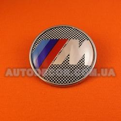 "Эмблема BMW 73 мм на капот-багажник ""клетчатый флаг"""