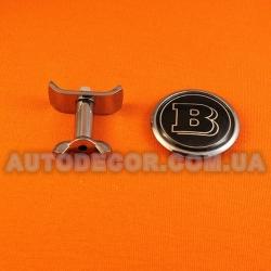 """Эмблема Mercedes 45 мм BRABUS на капот """"c болтовым крепежом"""""""