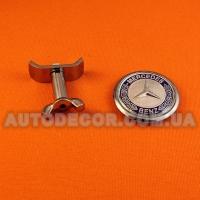 """Эмблема Mercedes 45 мм на капот """"c болтовым крепежом"""" металл"""