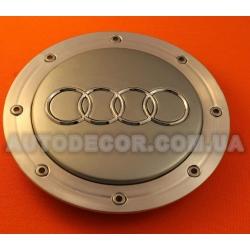 """Колпачки заглушки на литые диски AUDI (148/58/16) """"тарелка"""" 4BO 601 165A серые"""