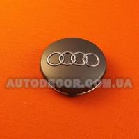 Колпачки заглушки на литые диски AUDI (59/56/7) 4B0601170 серые
