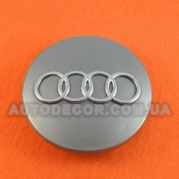 Колпачки заглушки на литые диски AUDI (68/56/10) 8D0 601 170 серые