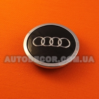Колпачки заглушки на литые диски AUDI (69/56/12) 8T0 601 170 A черные