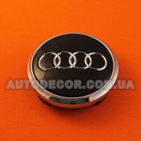 Колпачки заглушки на литые диски AUDI (77/67/15) 4L0 601 170 черные глянцевые