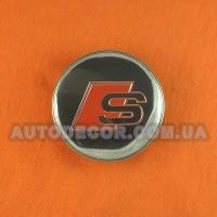 Колпачки заглушки на литые диски AUDI (60/56/10) S MC60N101 хром