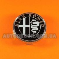 Колпачки заглушки на литые диски Alfa Romeo (60/56/10) MC60N101 черно-белые