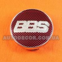 Колпачки заглушки на литые диски BBS (60/56/10) бардовые/хром логотип