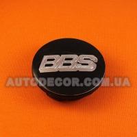 Колпачки заглушки на литые диски BBS (65/56/12) 3B7 601 171 черные/хром