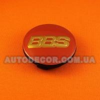 Колпачки заглушки на литые диски BBS (65/56/12) 3B7 601 171 красный/золото