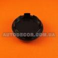 Колпачки заглушки на литые диски BBS (65/56/12) 3B7 601 171 черно-серые/серебро
