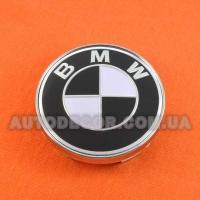 Колпачки заглушки на литые диски BMW (60/56/10) MC60N101 бело-черные