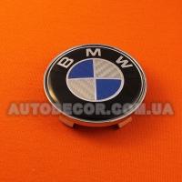 Колпачки заглушки на литые диски BMW (68.5/65/10) CARBON