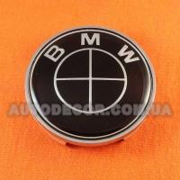 Колпачки заглушки на литые диски BMW (68.5/65/10) 36136783536 черные