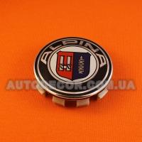 """Колпачки заглушки на литые диски BMW (68.5/65/10) 36136783536 """"ALPINA"""""""