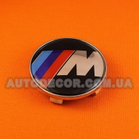 Колпачки заглушки на литые диски BMW М (68.5/65/10) черные
