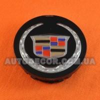 Колпачки заглушки на литые диски Cadillac (67/55/15) 9597375 черные