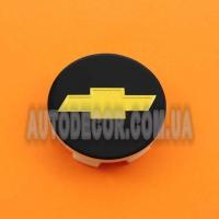 Колпачки заглушки на литые диски Chevrolet (53/48/9) 6106K53 черные