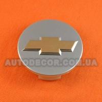 Колпачки заглушки на литые диски Chevrolet (60/53.5/15) серебро