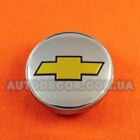 Колпачки заглушки на литые диски Chevrolet (60/56/10) хром