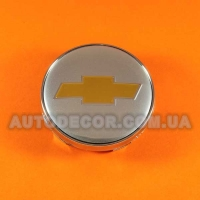Колпачки заглушки на литые диски Chevrolet (60/56/10) хром/золото
