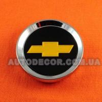 Колпачки заглушки на литые диски Chevrolet (64/59/10) черные