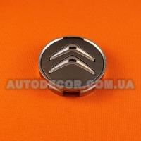 Колпачки заглушки на литые диски Citroen (59/56/9) графитовый/хром