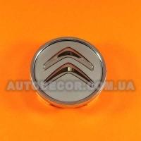 Колпачки заглушки на литые диски Citroen (60/56/10) серебро