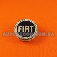 Колпачки заглушки на литые диски Fiat (49/42/11) серебро/черный