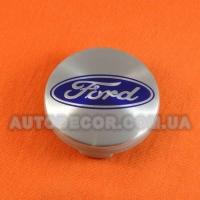 Колпачки заглушки на литые диски Ford (54/51/10) 6m21-1003-AA металл / хром лого