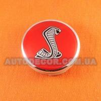 Колпачки заглушки на литые диски Ford (54/51/10) 6m21-1003-AA red Cobra