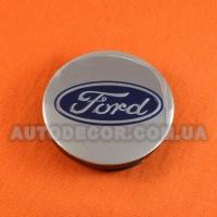 Колпачки заглушки на литые диски Ford (57/52/7) ...601151A хром