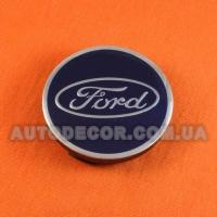 Колпачки заглушки на литые диски Ford (57/52/7) ...601151A синие