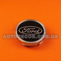 Колпачки заглушки на литые диски Ford (60/56/10) черный хром MC60N101-b