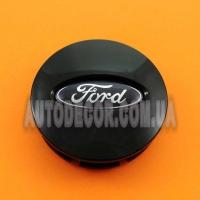 Колпачки заглушки на литые диски Ford (66/58/15) BB53-1A096-RA черные
