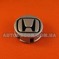 Колпачки заглушки на литые диски Honda (58/55/16) 566-CAP черный логотип