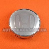 Колпачки заглушки на литые диски Honda (60/56/10) серебристые/хром лого
