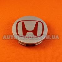 Колпачки заглушки на литые диски Honda (69/64/12) 44732-S9A-A00-1 серебро-красный