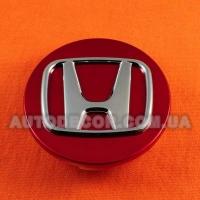 Колпачки заглушки на литые диски Honda (70/64/12) красные