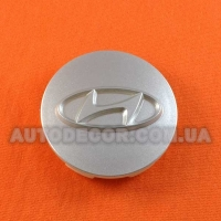 Колпачки заглушки на литые диски Hyundai (57/52/12) серебро