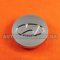Колпачки заглушки на литые диски Hyundai (60/54/9) хром