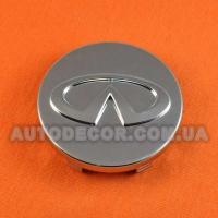 Колпачки заглушки на литые диски Infiniti (63/60/10) 403431CA4A хром