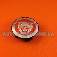 Колпачки заглушки на литые диски Jaguar (59/50/12) 8w93-1a096-ab RED