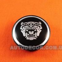 Колпачки заглушки на литые диски Jaguar (59/50/12) PA6M20GF10 черные