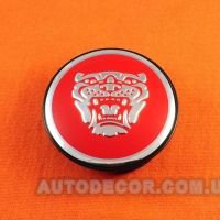 Колпачки заглушки на литые диски Jaguar (59/50/12) 8w93-1a096-ab красные