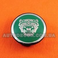 Колпачки заглушки на литые диски Jaguar (59/50/12) aw9m-1a096-ab зеленые
