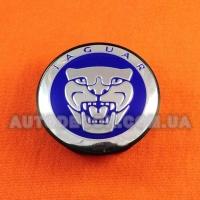 Колпачки заглушки на литые диски Jaguar (59/50/12) 9W9M1A096AC BLUE
