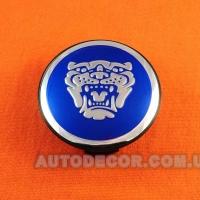 Колпачки заглушки на литые диски Jaguar (59/50/12) 9W9M1A096AC синие