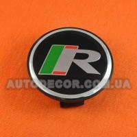 Колпачки заглушки на литые диски Jaguar R (59/50/12) 9w9m-1a096-ac черные/логотип R