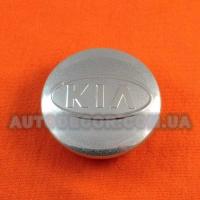 Колпачки заглушки на литые диски KIA (58/49/11) серебристые